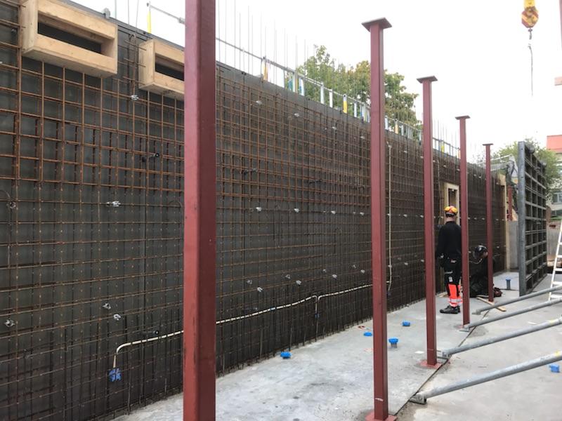 Dubbling av väggar Falkenbergsskolan